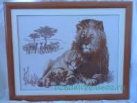 Львиный рай (Риолис) - Вышивка - Галерея - Персональный сайт Мотрошиловой Елены.